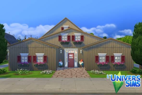 Sims 4 Bigarreau house by Falco at L'UniverSims