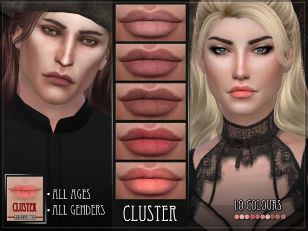 Sims 4 Cluster Lipstick by RemusSirion at TSR
