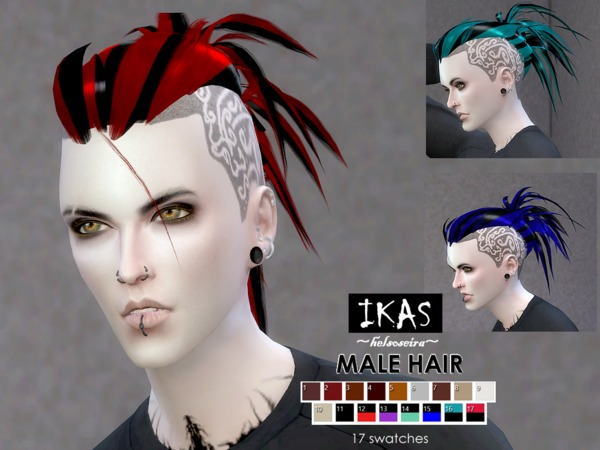 IKAS Hair style for MALE by Helsoseira at TSR image 1839 Sims 4 Updates