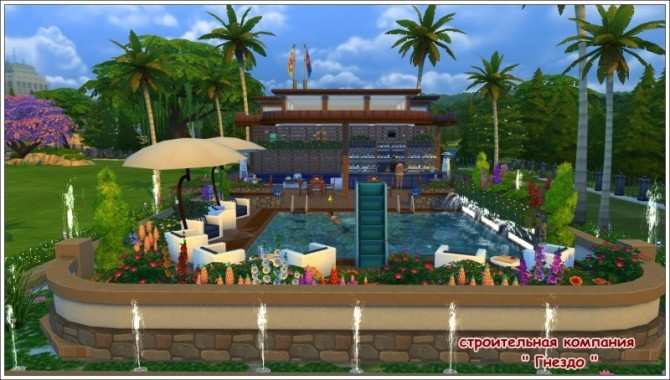 Breeze swimming pool & cafe ship at Sims by Mulena image 1915 670x380 Sims 4 Updates