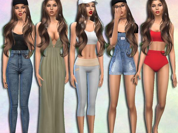 Sims 4 Antonia Stock by divaka45 at TSR