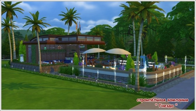 Sims 4 Breeze swimming pool & cafe ship at Sims by Mulena