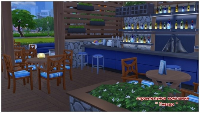 Breeze swimming pool & cafe ship at Sims by Mulena image 1941 670x380 Sims 4 Updates