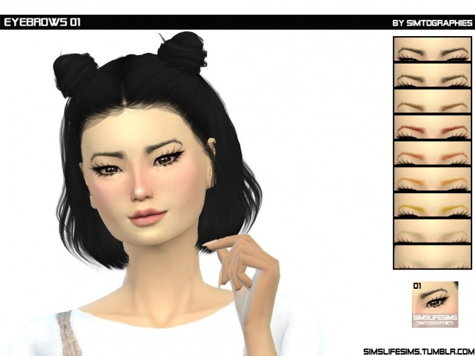 Eyebrows 01 by simtographies at Sims Life Sims image 196 670x503 Sims 4 Updates
