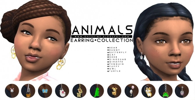 Animal Collection Earrings at Onyx Sims image 1971 670x344 Sims 4 Updates