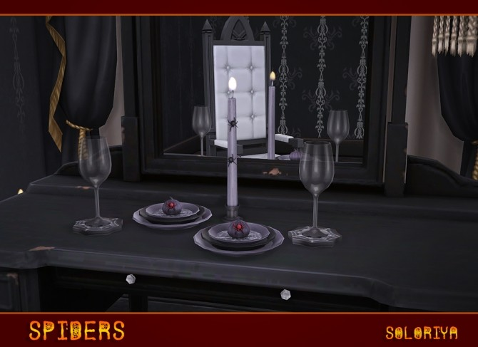 Sims 4 Spiders deco set at Soloriya