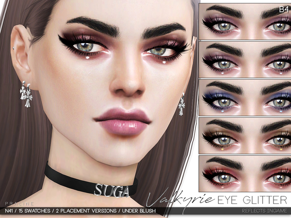 Valkyrie Eye Glitter N41 by Pralinesims at TSR image 2 Sims 4 Updates
