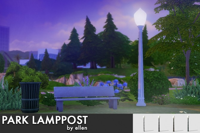 Park Lamppost at Simobjects by Ellen image 2065 670x447 Sims 4 Updates