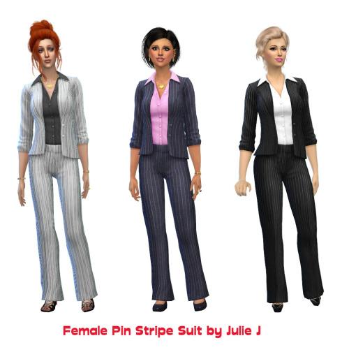 Sims 4 Pinstripe Suit at Julietoon – Julie J