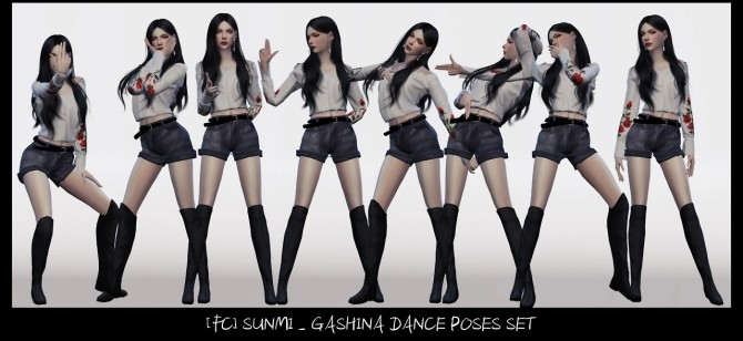 SUNMI GASHINA DANCE POSES SET at Flower Chamber image 2092 670x308 Sims 4 Updates