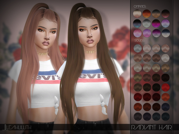 Sims 4 Radiant Hair by LeahLillith at TSR