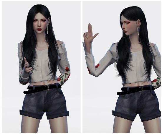 Sims 4 SUNMI GASHINA DANCE POSES SET at Flower Chamber