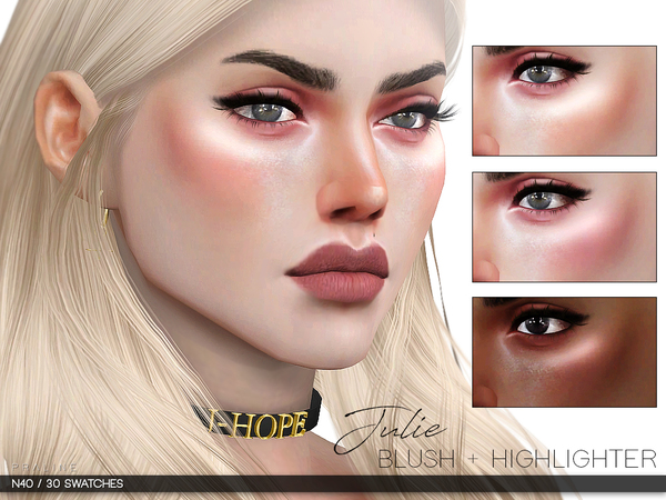 Julie Blush + Highlighter N40 by Pralinesims at TSR image 212 Sims 4 Updates