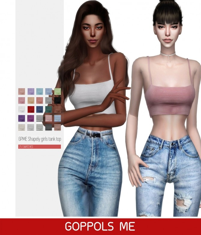 Sims 4 GPME Shapely girls tank top at GOPPOLS Me