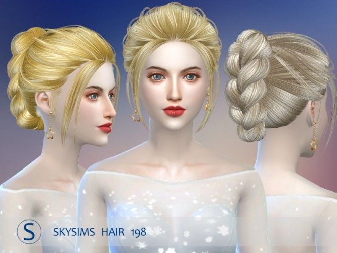 Hair 198 (pay) by Skysims at Butterfly Sims image 2153 670x503 Sims 4 Updates
