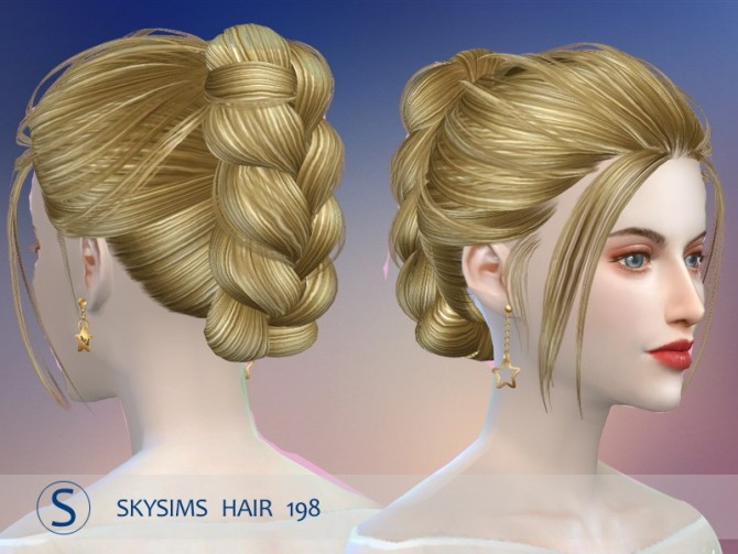 Hair 198 (pay) by Skysims at Butterfly Sims image 2163 670x503 Sims 4 Updates