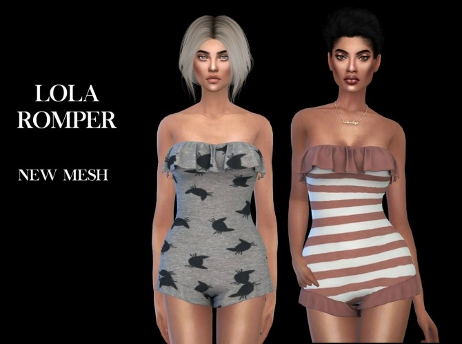 Lola Romper at Leo Sims image 2164 670x499 Sims 4 Updates