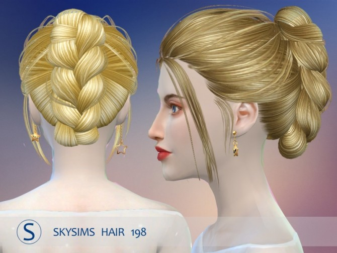 Hair 198 (pay) by Skysims at Butterfly Sims image 2173 670x503 Sims 4 Updates
