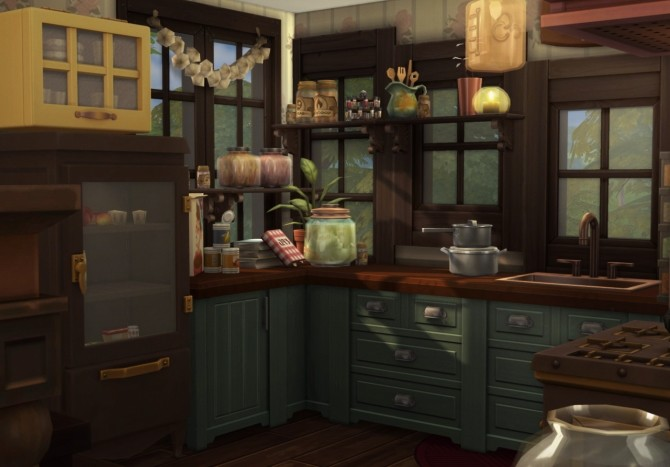 The Woodland Witch Cottage At Femmeonamissionsims 187 Sims 4