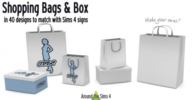 Sims 4 Shopping Bags & Box by Sandy at Around the Sims 4