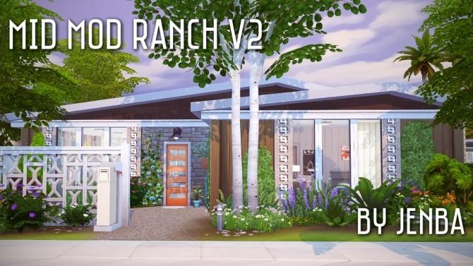 Mid Mod Ranch V2 at Jenba Sims image 2193 670x377 Sims 4 Updates