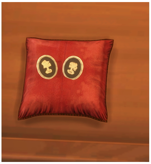 Sims 4 Vintage Brooches and Velvet Pillow at Josie Simblr