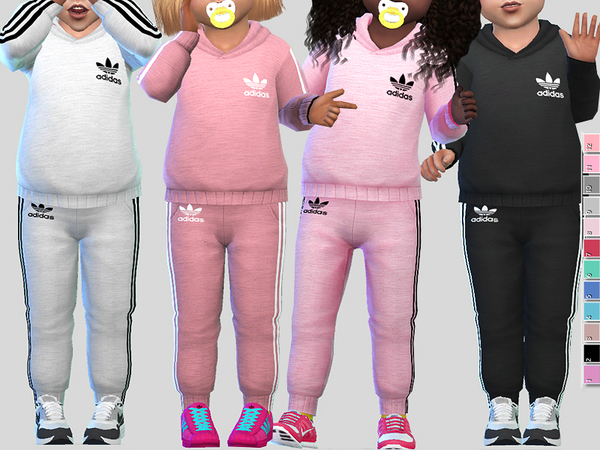 Sims 4 Athletic Toddler Outfit by Pinkzombiecupcakes at TSR