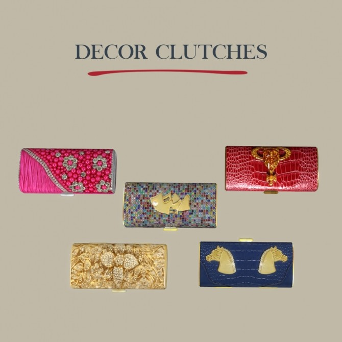 Decor Clutches at Leo Sims image 2281 670x670 Sims 4 Updates