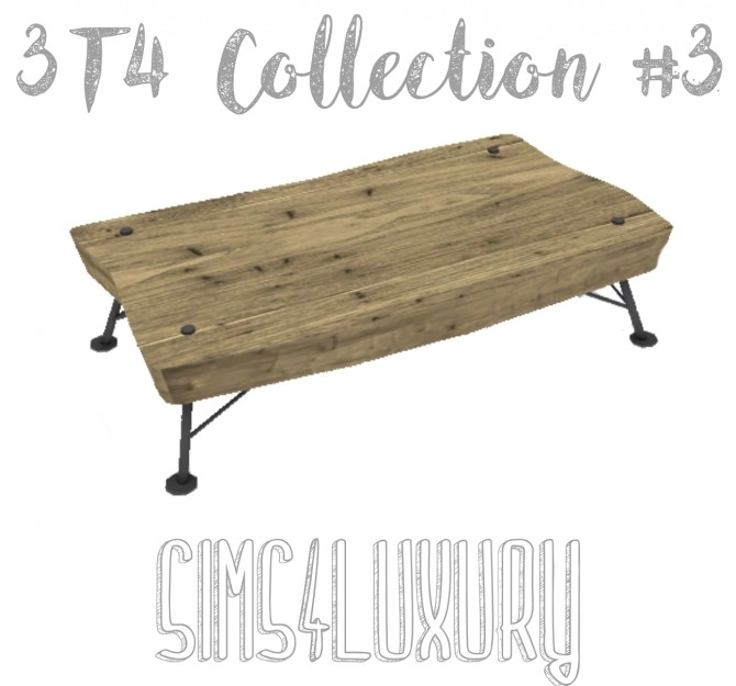 Sims 4 3T4 Collection #3 coffee table at Sims4 Luxury