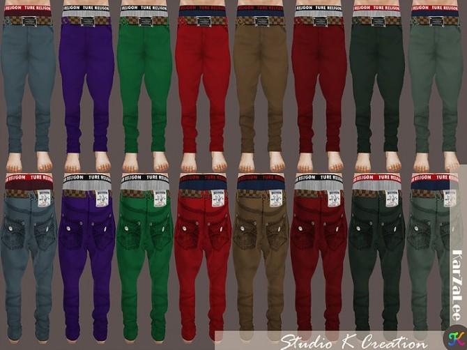 Sims 4 Giruto 36 Harem jeans for male at Studio K Creation