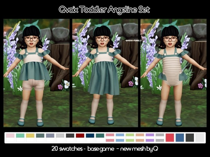 Sims 4 Angeline Set T at qvoix – escaping reality