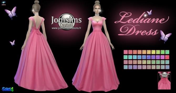 Lediane Dress at Jomsims Creations image 2316 670x355 Sims 4 Updates