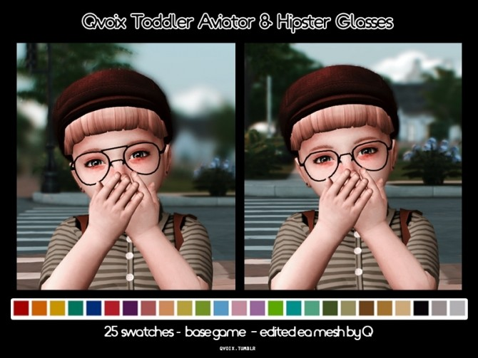 Aviator & Hipster Glasses at qvoix – escaping reality image 2332 670x503 Sims 4 Updates