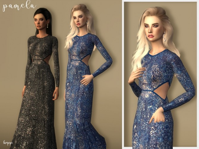 Pamela dress at Laupipi image 2342 670x503 Sims 4 Updates