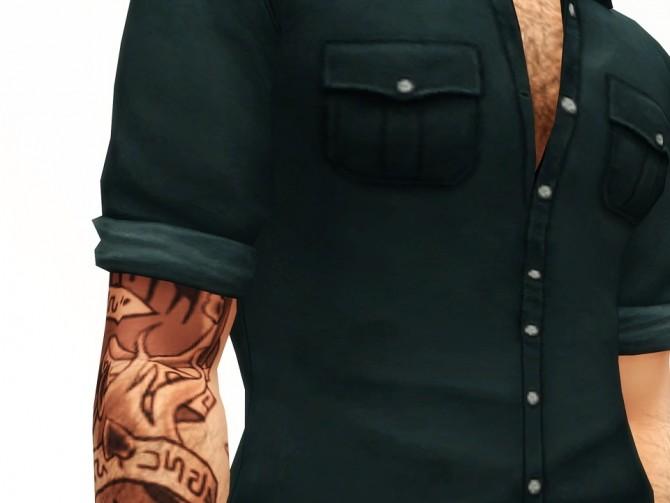 Sims 4 Hunter shirt 20 colors at Rusty Nail