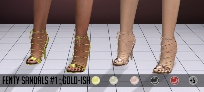 Sims 4 F Sandals #1 at Vittler Universe