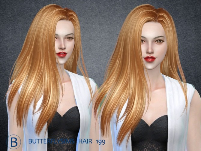 Hair 199 by YOYO at Butterfly Sims image 2491 670x503 Sims 4 Updates