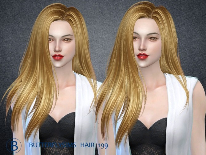 Hair 199 by YOYO at Butterfly Sims image 2501 670x503 Sims 4 Updates