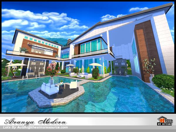Aranya modern home by autaki at TSR image 2519 Sims 4 Updates