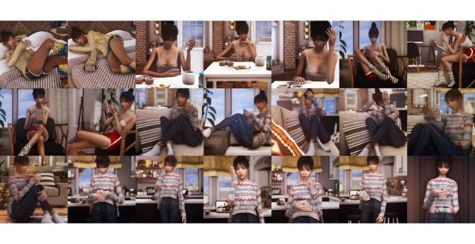 21 random poses with phone at Andromeda Sims image 2522 670x345 Sims 4 Updates