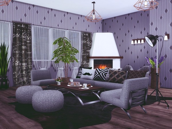 Winter House by MychQQQ at TSR image 2525 Sims 4 Updates