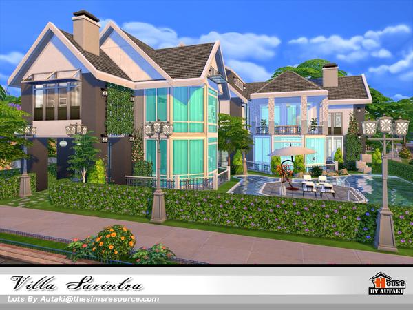 Sims 4 Villa Sarintra NoCC by autaki at TSR