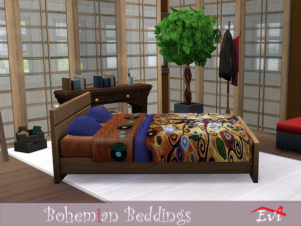 Sims 4 Bohemian Beddings by evi at TSR