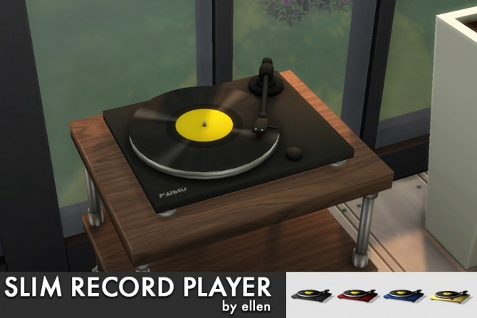 Slim Record Player / Turntable at Simobjects by Ellen image 2561 670x447 Sims 4 Updates