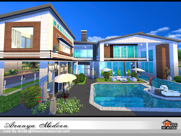 Aranya modern home by autaki at TSR image 2619 Sims 4 Updates