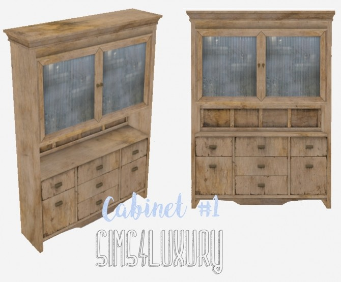 Cabinet #1 at Sims4 Luxury image 2622 670x555 Sims 4 Updates