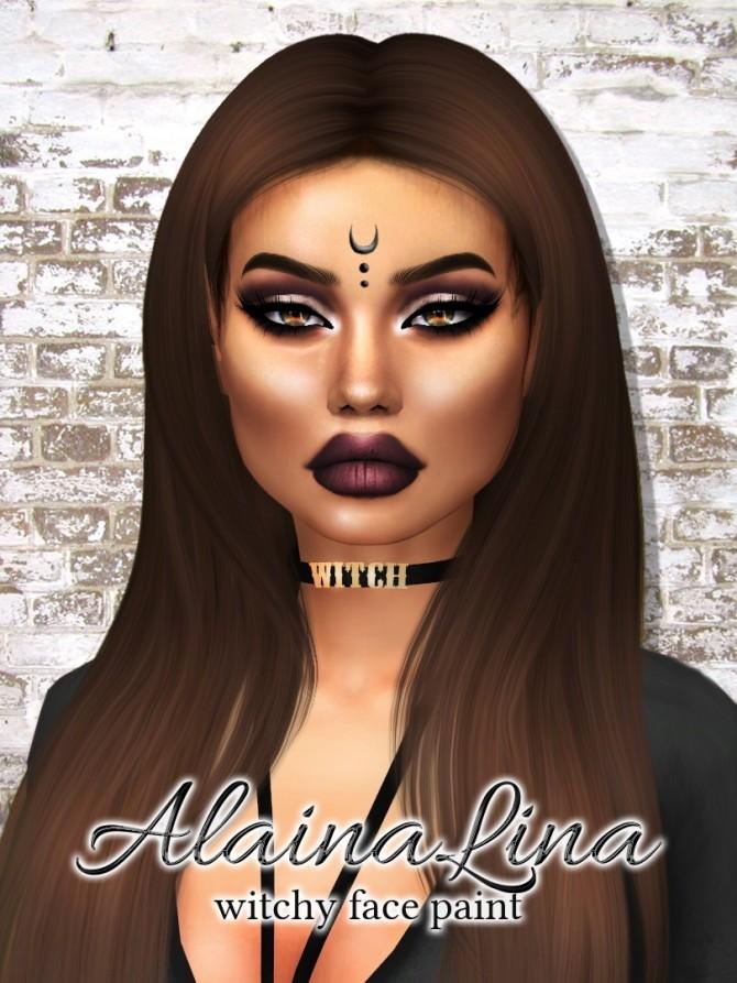Witchy Face Paint at AlainaLina image 2661 670x893 Sims 4 Updates