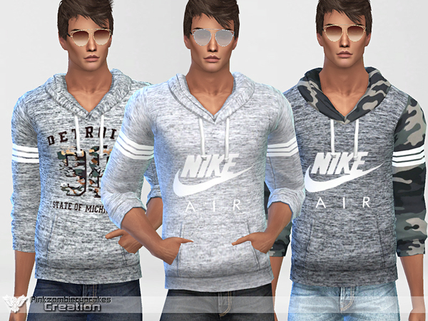 Sporty Hoodie 010 For Him by Pinkzombiecupcakes at TSR image 271 Sims 4 Updates