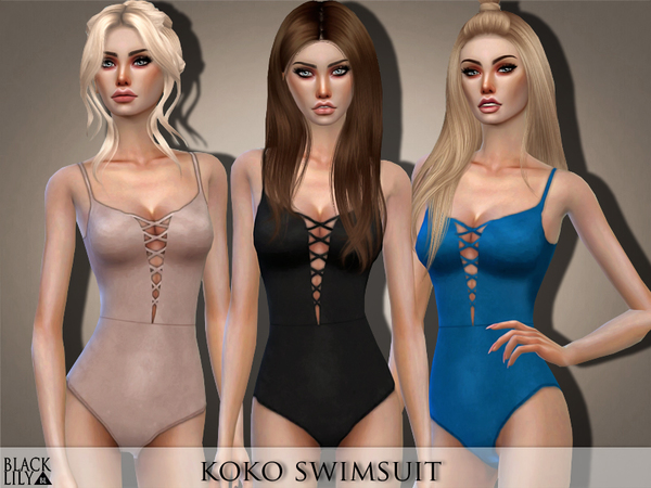 Sims 4 Swimsuit by Black Lily at TSR