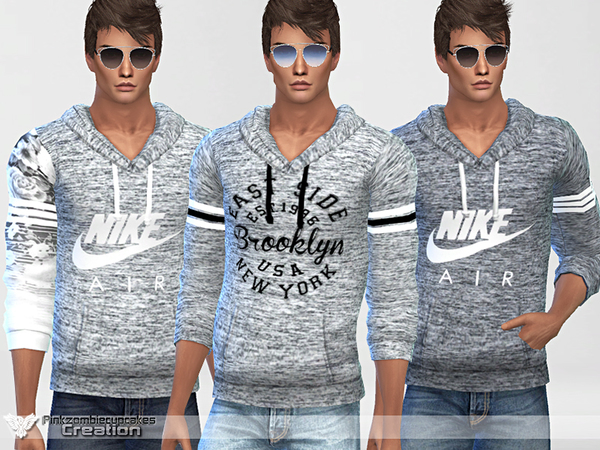 Sims 4 Sporty Hoodie 010 For Him by Pinkzombiecupcakes at TSR